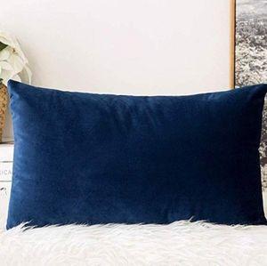 2 for $35 - Royal Blue Velvet Lumbar Pillow